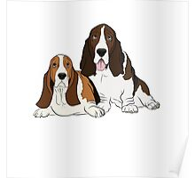 Two Bassets  Poster