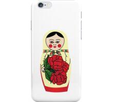 Russian matryoshka doll (yellow) iPhone Case/Skin