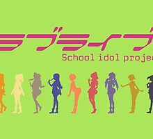 Love Live! School Idol Project band by evilaki
