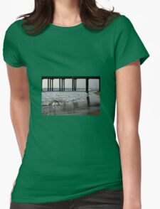 Where Sky And Water Meet  Womens Fitted T-Shirt
