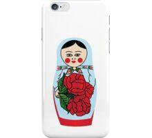 Russian matryoshka doll (blue) iPhone Case/Skin