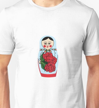 Russian matryoshka doll (blue) Unisex T-Shirt