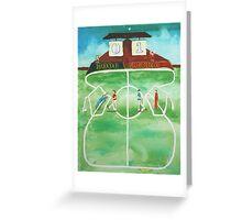 Binary Football Greeting Card