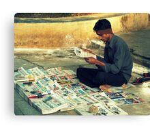 News Reader Canvas Print