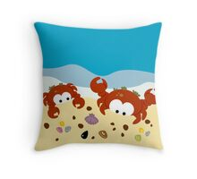 Two Crabs Throw Pillow