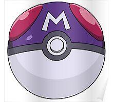 Master ball Poke ball Poster