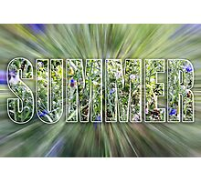 Summer Text Photographic Print