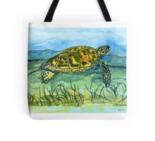 Sea Turtle art Tote Bag