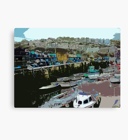 Mevagissey Harbour Canvas Print