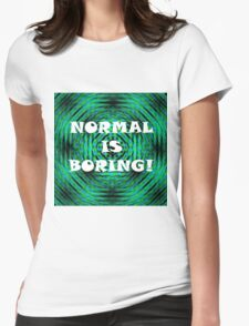 Normal Rebel Womens Fitted T-Shirt