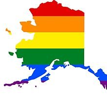 LGBT Flag Map of Alaska by abbeyz71