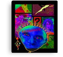 'Realist Boogie Man' Mask #3 Canvas Print