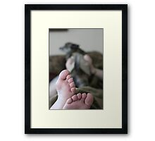 Feet First Framed Print