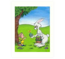 Bad Bunny- His Easter Egg Has Finally Cracked Art Print