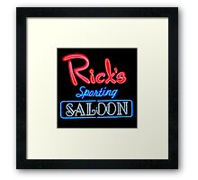NightLife : Rick's Sporting Saloon Framed Print