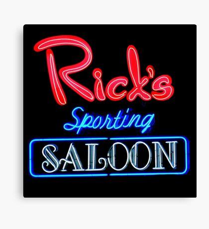 NightLife : Rick's Sporting Saloon Canvas Print