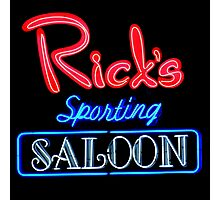 NightLife : Rick's Sporting Saloon Photographic Print
