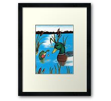 Frog Hypnotist - When Catching Flies Gets Boring Framed Print