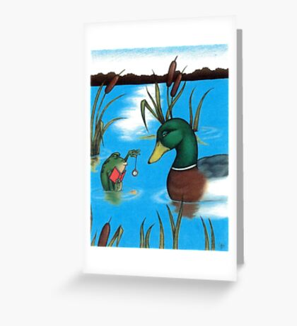 Frog Hypnotist - When Catching Flies Gets Boring Greeting Card