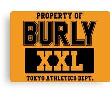 Burly XXL Tokyo Athletics Dept Canvas Print