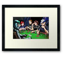Mass Effect - It's Poker Time! Framed Print