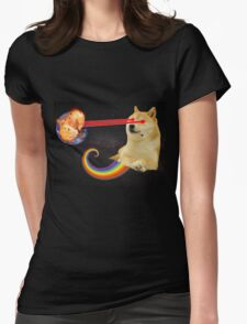 Doge Destroy Earth Womens Fitted T-Shirt