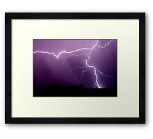 Tstorm rain Framed Print
