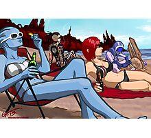 Mass Effect Cartoon - Ladies' Day Off Photographic Print