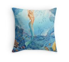 Coral, Mermaid Throw Pillow