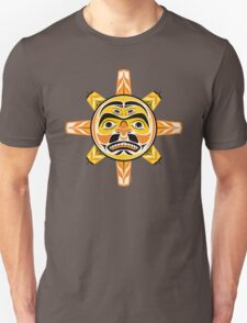 Sun in A Native American Style from the Pacific Northwest. T-Shirt