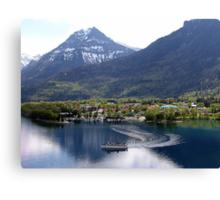 Waterton Lake Cruise Canvas Print