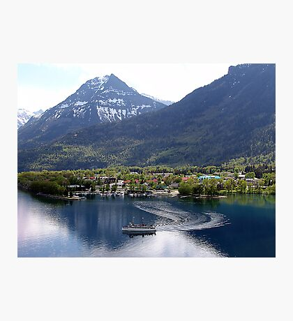 Waterton Lake Cruise Photographic Print