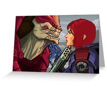 Mass Effect - Wrex vs. Shepard Greeting Card