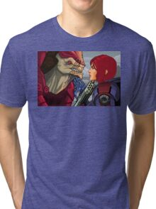 Mass Effect - Wrex vs. Shepard Tri-blend T-Shirt
