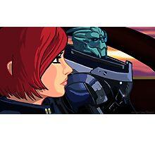 Mass Effect Cartoon - Old Friends Photographic Print