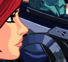 Mass Effect Cartoon - Old Friends Sticker