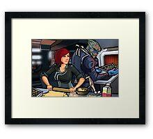 Mass Effect Cartoon - Cookie Time Framed Print