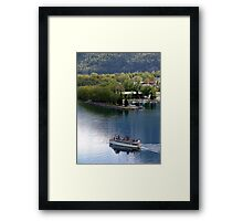 Waterton Lake Cruise Framed Print