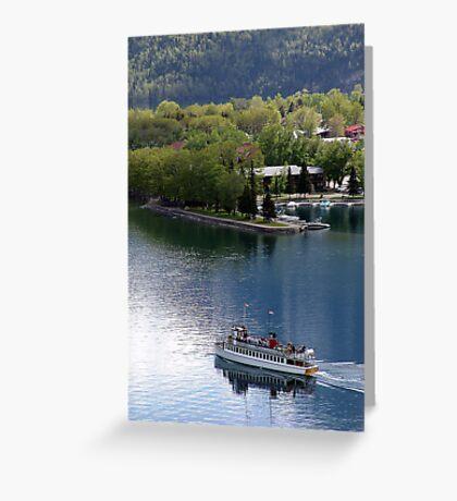 Waterton Lake Cruise Greeting Card