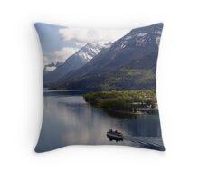Waterton Lake Cruise Throw Pillow