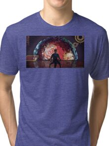 Mass Effect Cartoon - The Illusive Man Tri-blend T-Shirt