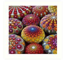Warm Tone Mandala Stone Collection Art Print