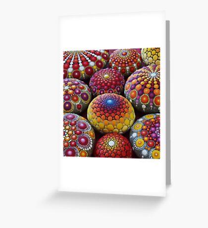 Warm Tone Mandala Stone Collection Greeting Card