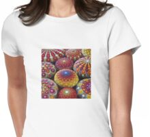 Warm Tone Mandala Stone Collection Womens Fitted T-Shirt