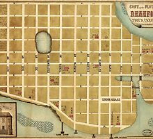 Map of the City of Beaufort South Carolina (1860) by allhistory