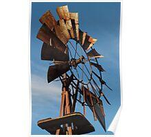 Rusty Windmill Poster