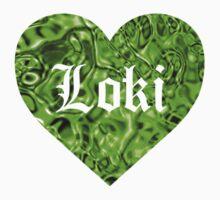 Love Loki (Grass-Green Liquid Metallic) T-Shirt