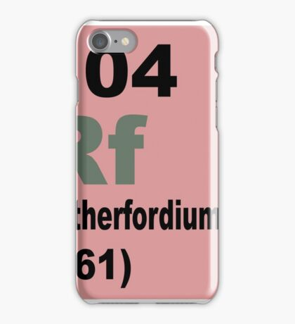 Rutherfordium Periodic Table of Elements iPhone Case/Skin