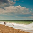 Fun in the sea at Cley by Zoë Power