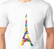 Abstract eiffel tower france paris geek funny nerd Unisex T-Shirt